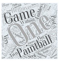Bwpb why paintball is popular word cloud concept vector