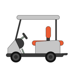 Color image cartoon golf cart vehicle vector