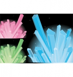 crystal vector image vector image