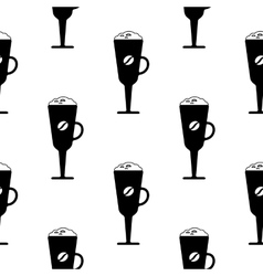 cups of coffee pattern vector image vector image