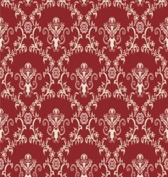 Damask wallpaper pattern vector