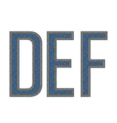 Def letters denim vector
