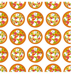 delivery pizza seamless pattern background vector image vector image