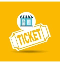 E-commerce store building ticket icon design vector