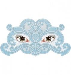 eye pattern vector image vector image