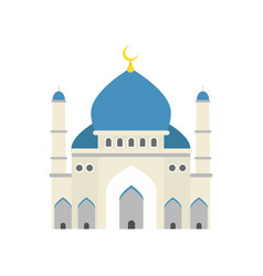 Islamic mosque traditional religious architecture vector