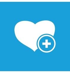 More health icon white vector