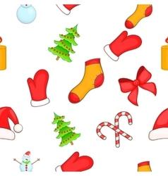 New year pattern cartoon style vector
