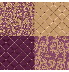 pattern baroque set vector image
