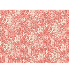 red floral textile seamless pattern in gzhel style vector image
