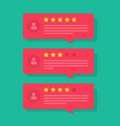 review rating bubble speeches reviews vector image vector image