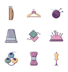 tailor icons set flat style vector image vector image