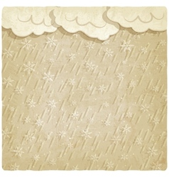 Vintage background with falling snow vector image vector image