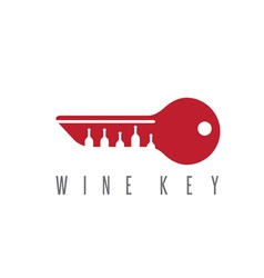 Wine key concept with bottles design template vector