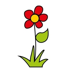 Flower floral nature icon vector