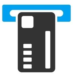 Ticket machine flat icon vector