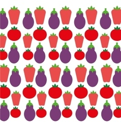 Eggplant tomato and pepper background design vector