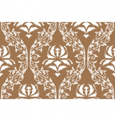 Vintage damask pattern vector