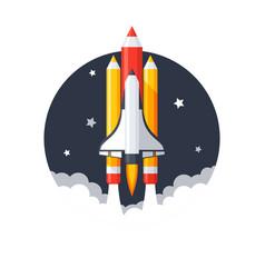 Pencil shuttle launch vector
