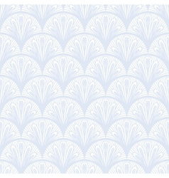 Art deco geometric pattern in silver white vector