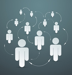 Paper people - social media connection vector