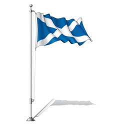 Flag pole scotland vector