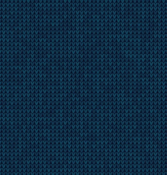 Knitted blue background vector