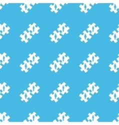 People puzzle straight pattern vector