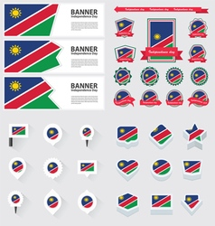 Set namibia vector