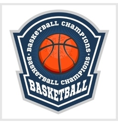 Basketball championship - emblem for t vector