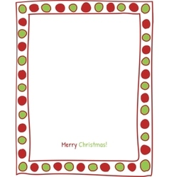 Christmas circle border vector image