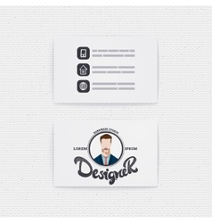 Business card with a logo designer hipster vector