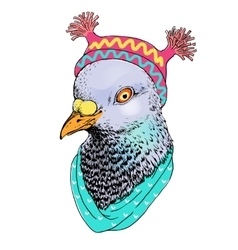 Fashion bird animal  anthropomorphic vector