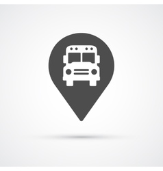 Bus marker pin icon for map vector