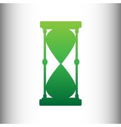 Hourglass sign green gradient icon vector