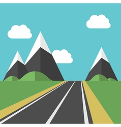 Beautiful landscape with road vector
