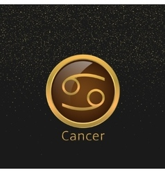 Cancer zodiac sign vector