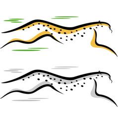 Cheetah jumping vector