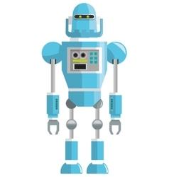 Colorful blue robot icon vector