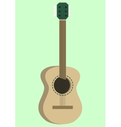 Acoustic guitar design vector image
