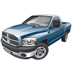 American full size pickup vector