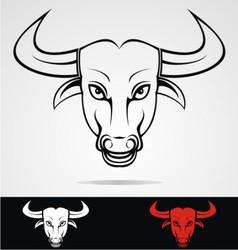 Bulls Head Mascot vector image vector image