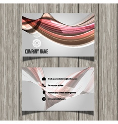 business card layout 1002 vector image vector image