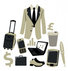 business man graphics vector image vector image