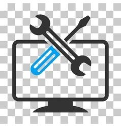 Computer tools icon vector