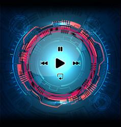 cyber digital media vector image