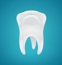 Human teeth on blue background vector
