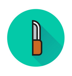 knife sign icon on white background vector image