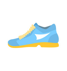 Light blue athletic shoe cartoon vector