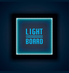 light board background night neon vector image